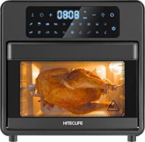 Air Fryer Toaster Oven 20-in-1,16 Quart Airfryer Oilless Cooker,Airfryers,Rotisserie,Air Fry,Roast,Bake,Reheat and Dehydration,Extra Large Capacity,LCD Touch Screen