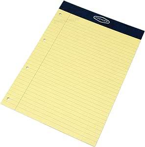 Pack de 10] de ayuda A4 amarillo papel Legal recambios para cuaderno de 100 páginas con forro y almohadillas: Amazon.es: Hogar