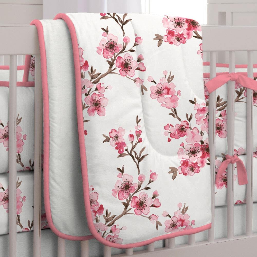 Carousel Designs Cherry Blossom Crib Comforter by Carousel Designs