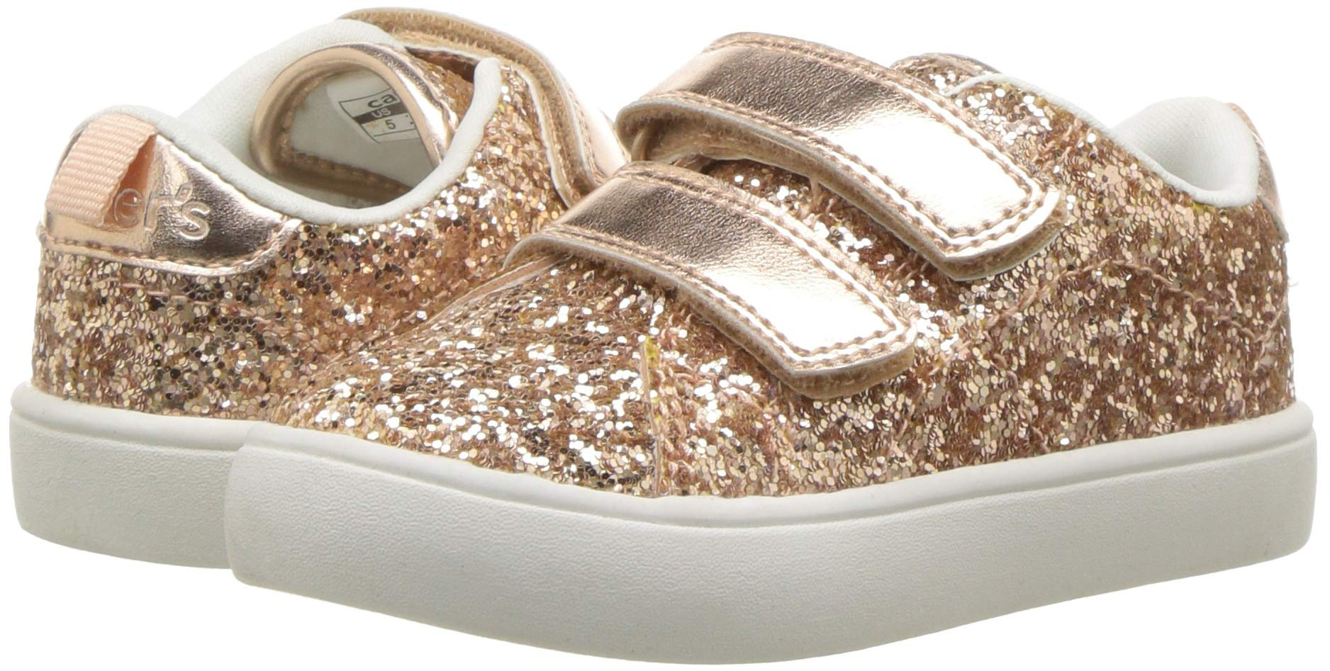 carter's Girls' Andee2 Rosegold Casual Sneaker, Rose Gold, 11 M US Little Kid by Carter's (Image #6)