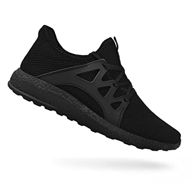 580bc74efc702e QANSI Men's Sneakers Mesh Ultra Breathable Lightweight Sports Running Shoes  Black Size 13