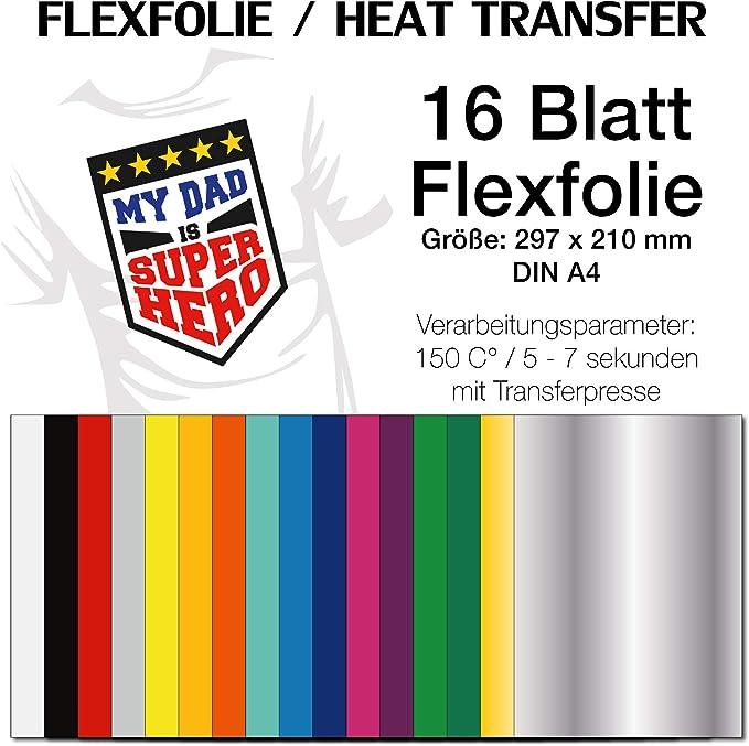 Kreativplotter Colorful Mix Láminas de planchado flexibles Mix ...