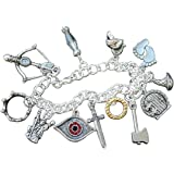 Fantasy Characters Silver Plated Charm Bracelet- Elf, Dwarf, King, Wizard, Magic Ring Charms- Sizes XS-XL