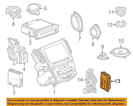 Amazon com: General Motors Cadillac GM OEM 13-17 XTS Sound System