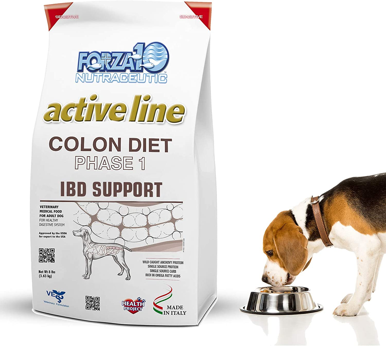 Forza10 Active Colon Support Dieta Fase 1 Comida Seca para Perros, Ayuda a los Perros con diarrea, Colitis y estreñimiento, Sabor a proteína de anchoa ...