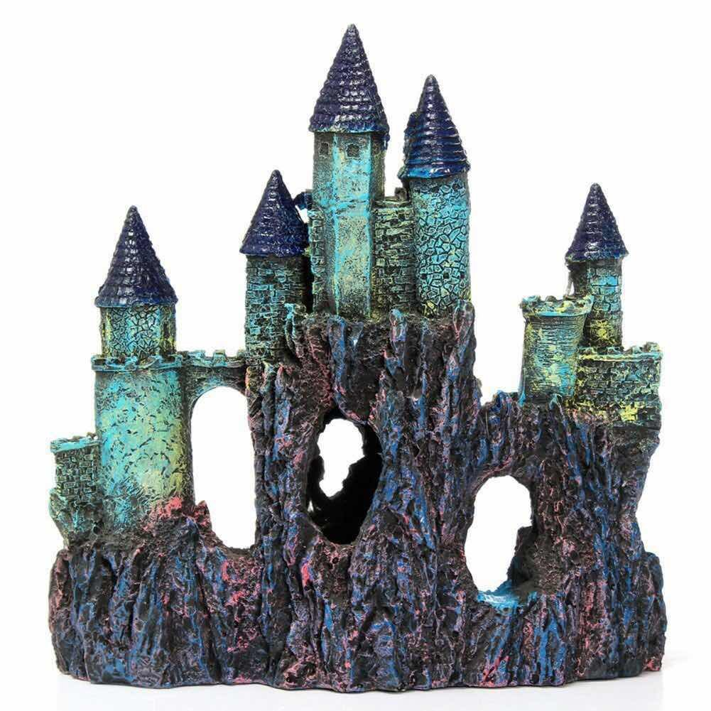 large magical castle aquarium decor ornaments fish tank. Black Bedroom Furniture Sets. Home Design Ideas