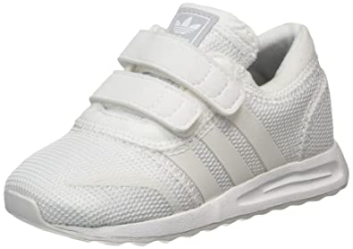 adidas Angeles CF, Sneaker Basses Mixte enfant, Blanc Cassé (Footwear White ),