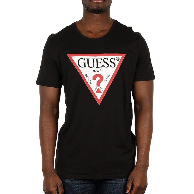16109aab97 Guess Logo, maglietta a manica corta per Uomo: Amazon.it: Abbigliamento