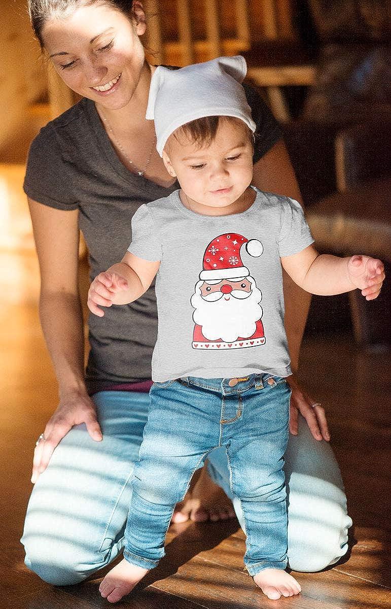Geschenk Baby Unisex Baby T-Shirt S/ü/ßes Weihnachtsmann Babyshirt