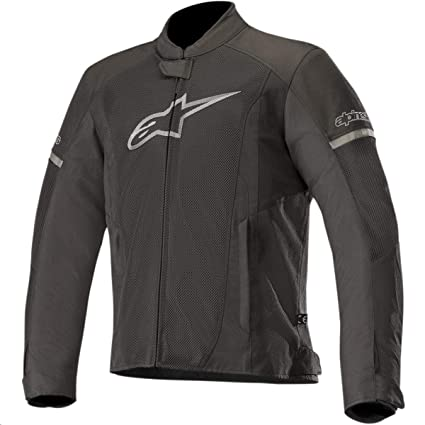 T-Faster Air Textile Street Motorcycle Jacket (L, Black Black)