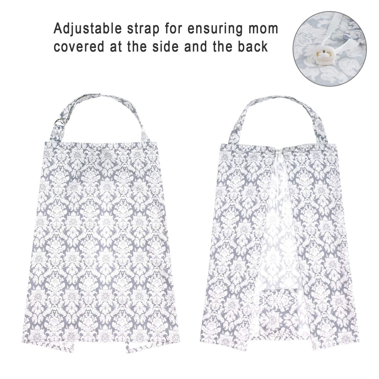 Couverture dallaitement ajustable pour maman /écharpe dallaitement en coton respirant avec poche int/érieure