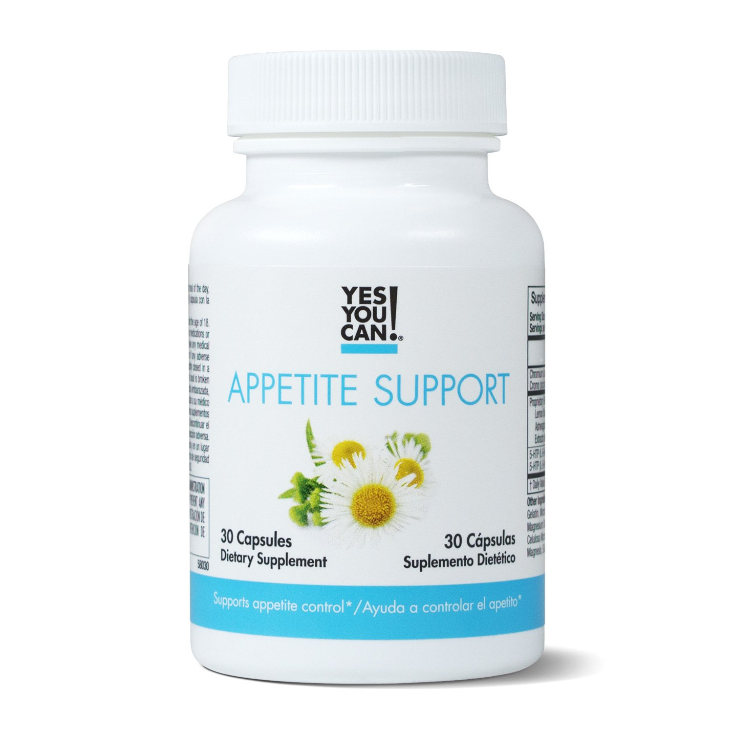 Yes You Can! Appetite Support - For Safe Weight Loss, Mood Enhancement and Stress