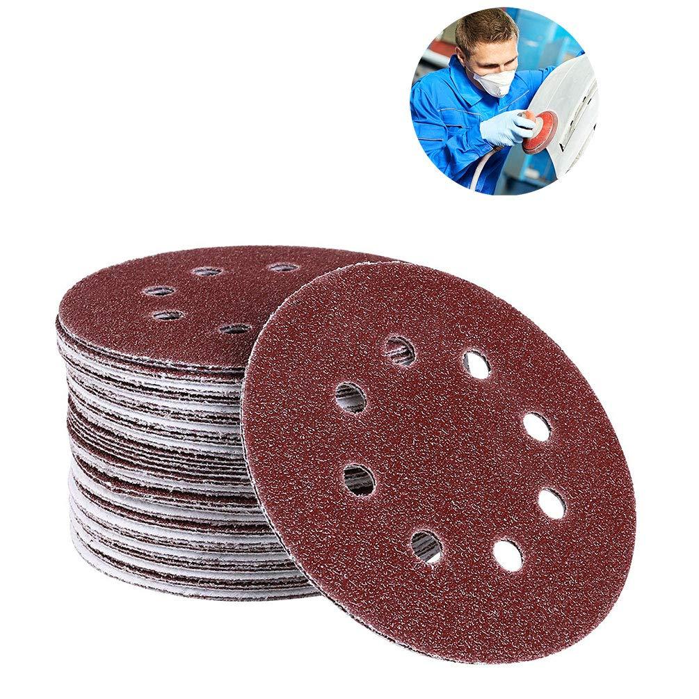 50pcs 3 Inch 40-180 Grit Sander Sanding Discs Pads Hook /& Loop Sandpaper