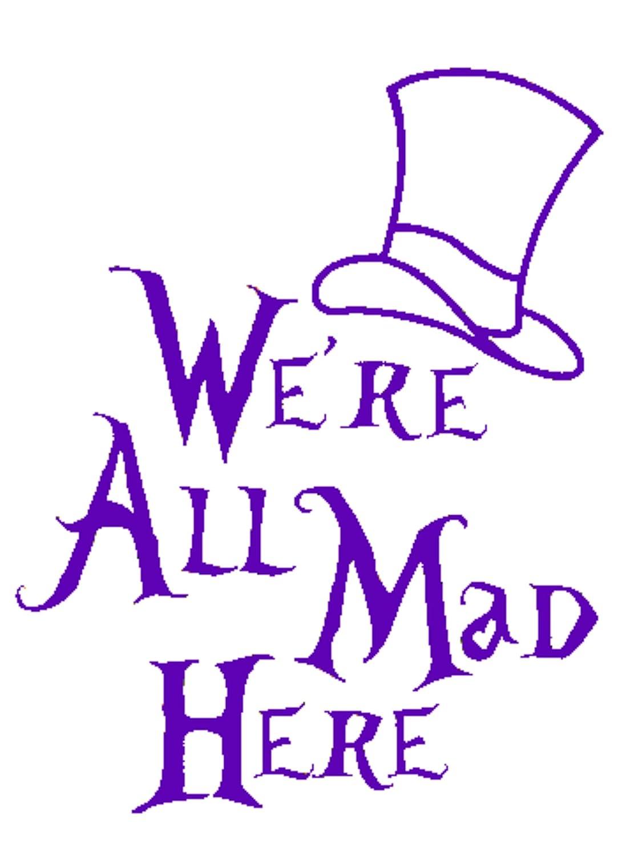 【正規取扱店】 Signage Cafe 不思議の国のアリス 5.5x7 - - We're All Mad Mad Here、ビニールカーデカール 5.5x7 AIW 5.5x7 ダークパープル B07NNRW4G7, アットキレイ:1112a67a --- a0267596.xsph.ru