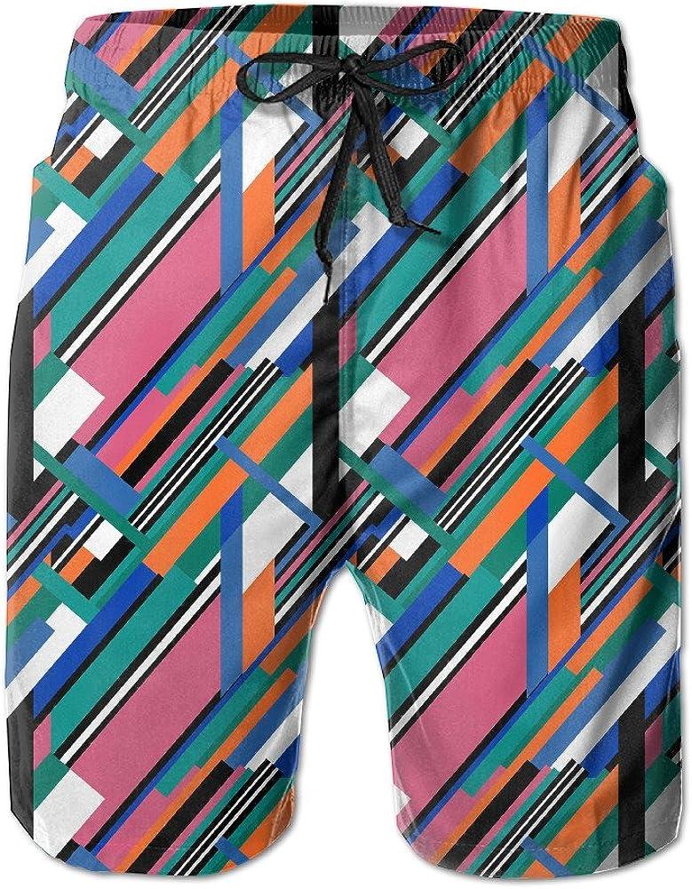 Mens Swim Trunks Irregular Shapes Easeful Board Shorts