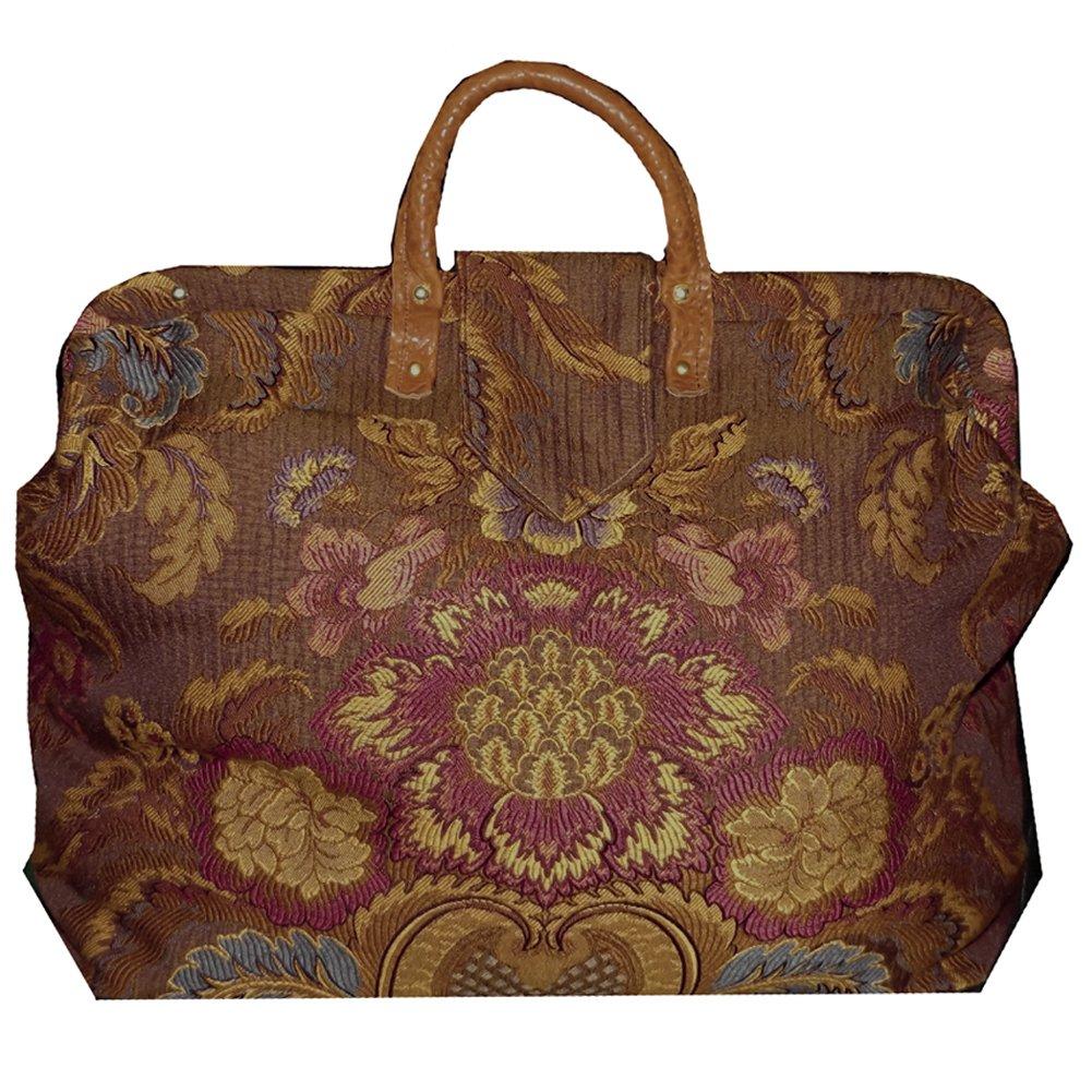 FlyingNeedleGallerys Rose /& Multicolor Floral Medallion Tapestry Carpet Bag