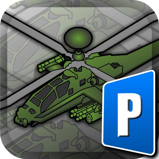 Black Hawk Apache Chopper - RC Control Helicopter Flight, Land, Parking Simulator