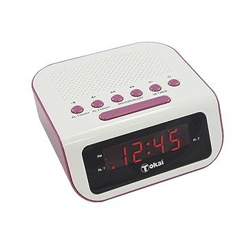 TOKAI - TC -132PK - Radio Réveil - Tuner Digital avec Présélection Rose ecfdeabc4602