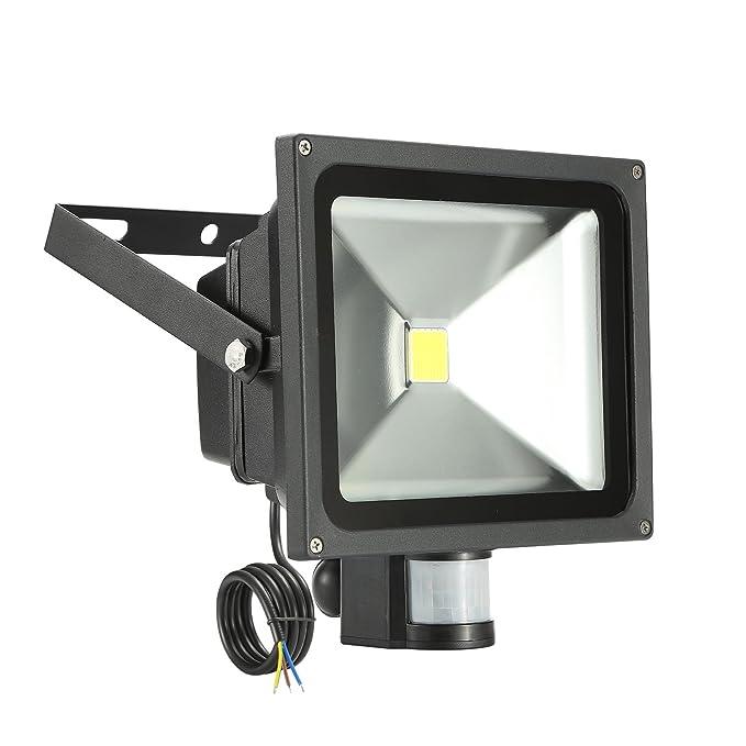 LED 30W Flood Light 6000K IP65,Flood Light,Foco LED con Sensor Movimiento, Proyector LED exterior, Impermeable IP65, Iluminación de Exteriory Seguridad: ...