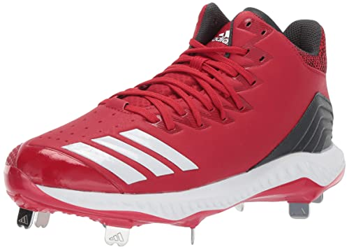 adidas Icon Bounce Mid Cleat Men s Baseball 6.5 Power Red-Cloud White-Carbon bba6e5fe0