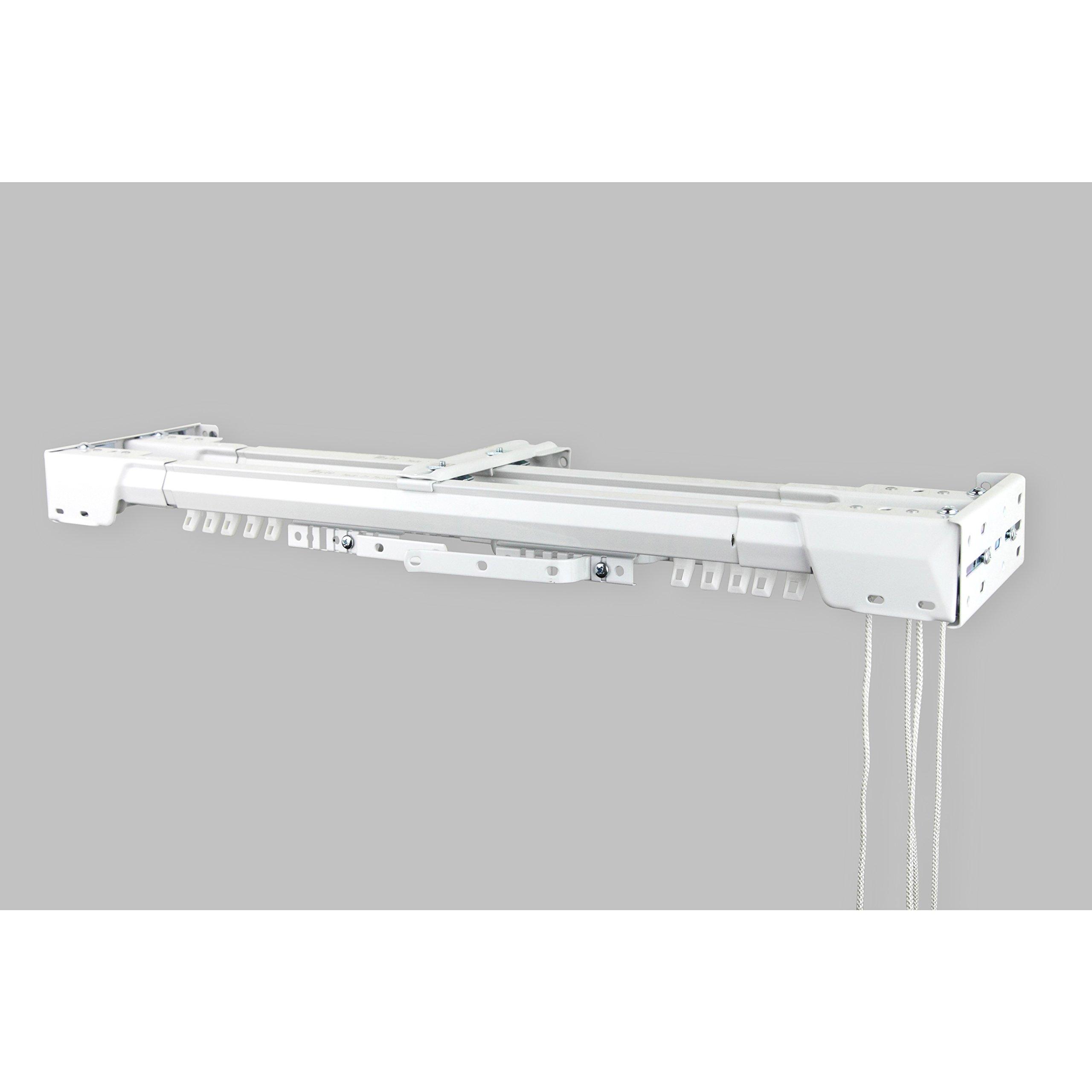 InStyleDesign White Heavy Duty-double Traverse Rod (Center Open) 156
