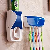 Unique Gadget ABS Plastic Automatic Toothpaste Dispenser with Wall Mounted Toothbrush Holder (Multicolour)