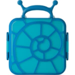 Boon Kids Lunch Box with Divided Compartments Blue Trunk
