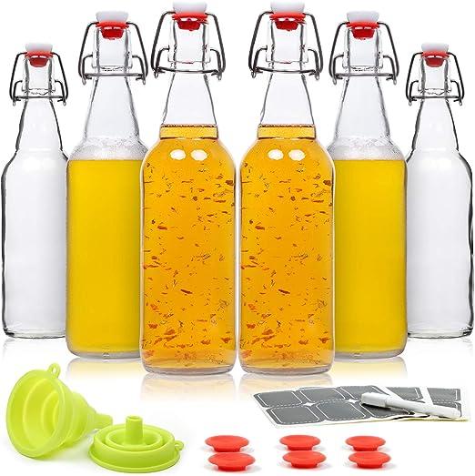 Amazon.com: WILLDAN - Juego de 6 botellas de cristal con ...