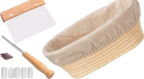 DOYOLLA 10 inch Oval Rattan Proofing Basket