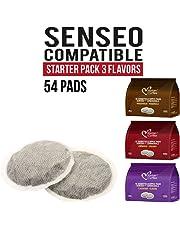 Senseo pods Italian Coffee Pads (3 Flavors Mix, 54 Pads)