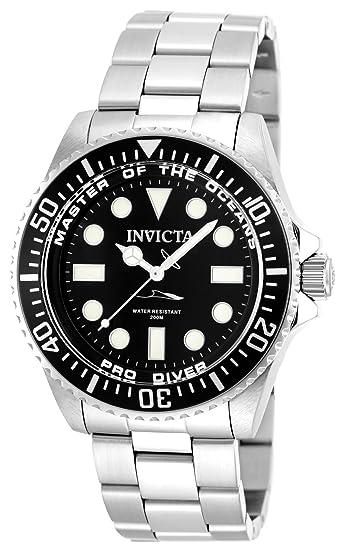 Invicta 20119 Pro Diver Reloj para Hombre acero inoxidable Cuarzo Esfera negro: Amazon.es: Relojes