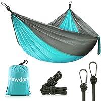 Newdora Camping Hammock - Lightweight Nylon Portable Hammock, Best Parachute Double Hammock for Backpacking, Camping, Travel, Beach, Yard.