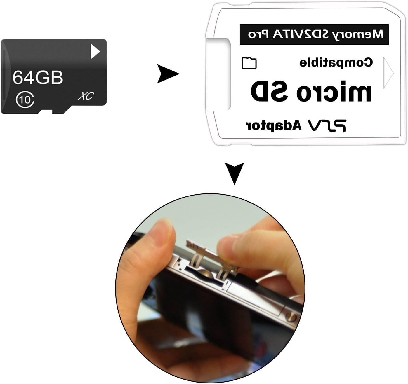 SFIC LTD sd2vita Pro Adattatore 3.0/per PS Vita 3.60/scheda di memoria Micro SD henkaku PSVita Full Coverage