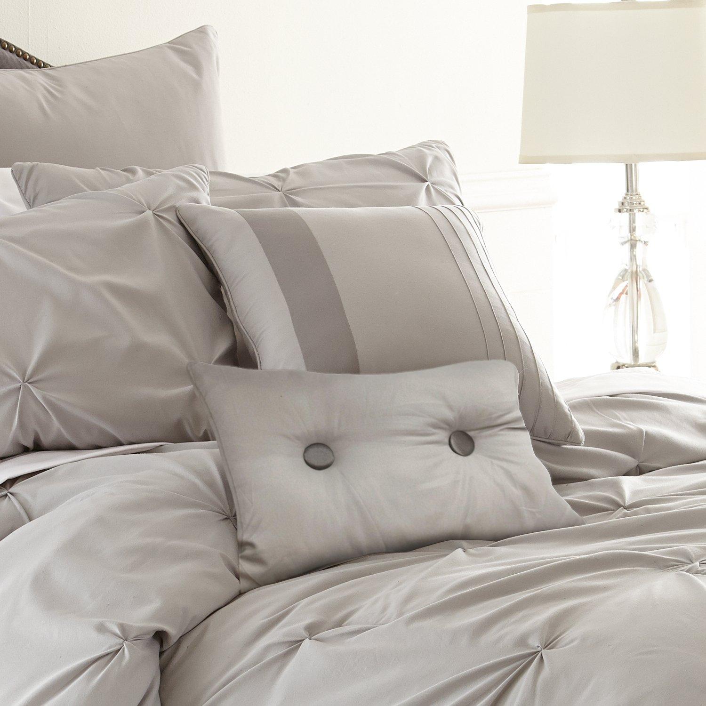 Amazon.com: Ella Collection| 8-Piece Pin tuck Comforter Set, Ultra ...