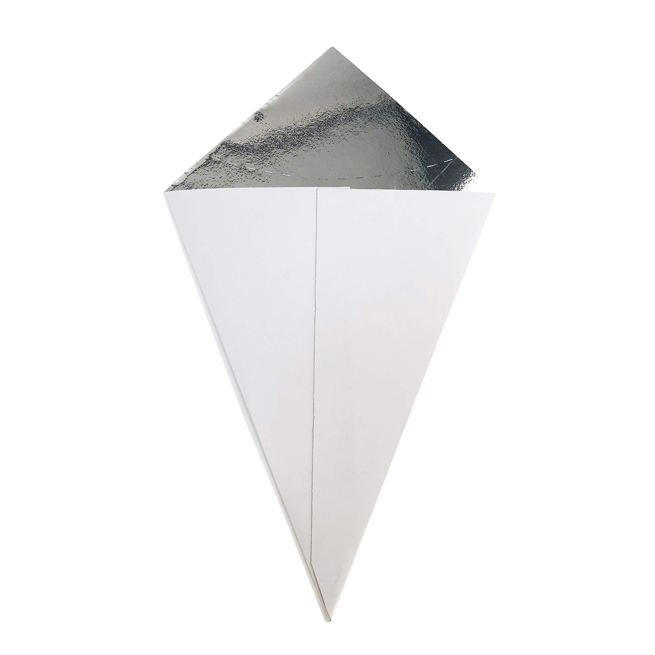 12'' X 4.5'' White, Take Away Paper Cone, Clipper Mill by GET 4-CC500-WH (Pack of 500) (Metal Cone 4-21644 Sold Separately)