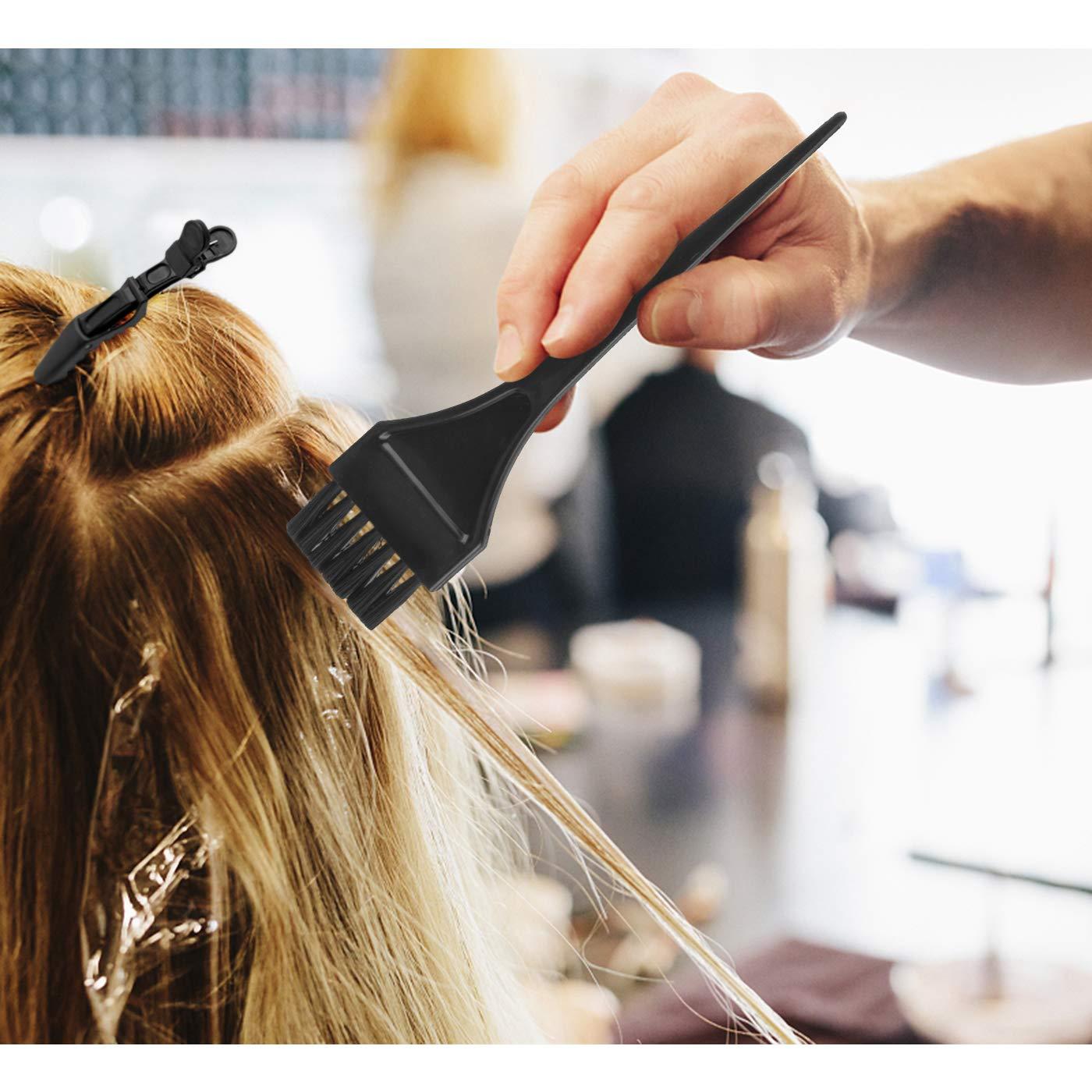 47 Pieces Hair Dye Coloring Kit Hair Tinting Bowl Dye Brush, Ear Cover, Gloves for Hair Coloring Bleaching Hair Dryers DIY Salon Hair Dye Tools Hair Dye Tools : Beauty