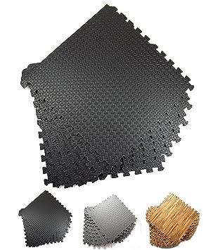 Good Times Schutzmatten 6er Set, 60x60x1cm, Wasserdichte Puzzlematten,  Bodenschutzmatten, Unterlegmatten, Für