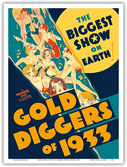 Amazon.com: Gold Diggers of 1933 - The Biggest Show on Earth - Musical  Starring Warren William and Joan Blondell - Vintage Film Movie Poster c.1933  - Master Art Print 9in x 12in: Posters & Prints