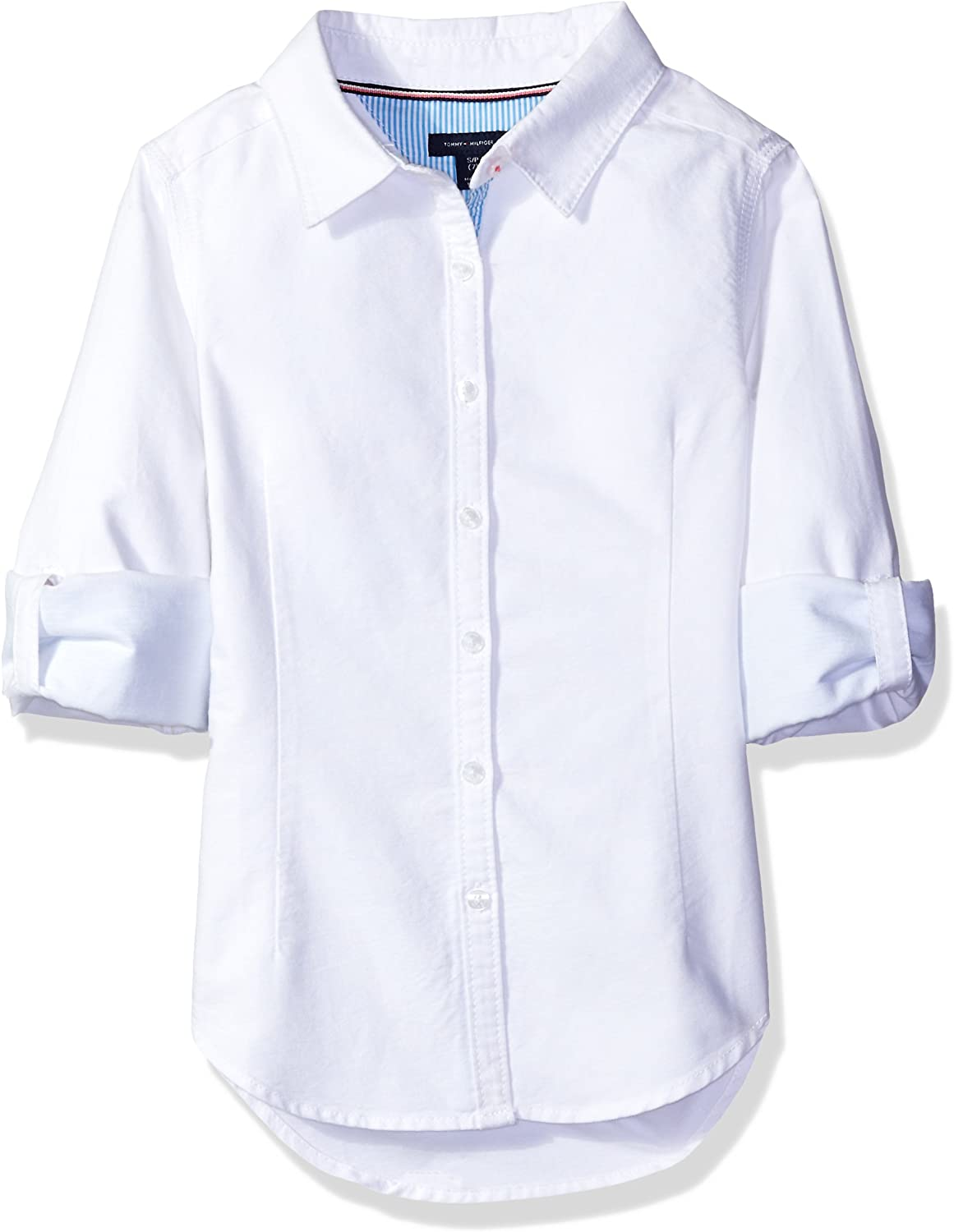 Tommy Hilfiger Girls' Solid Oxford Shirt: Clothing