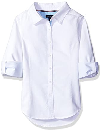 a05ba743ff19 Amazon.com  Tommy Hilfiger Girls  Solid Oxford Shirt  Clothing