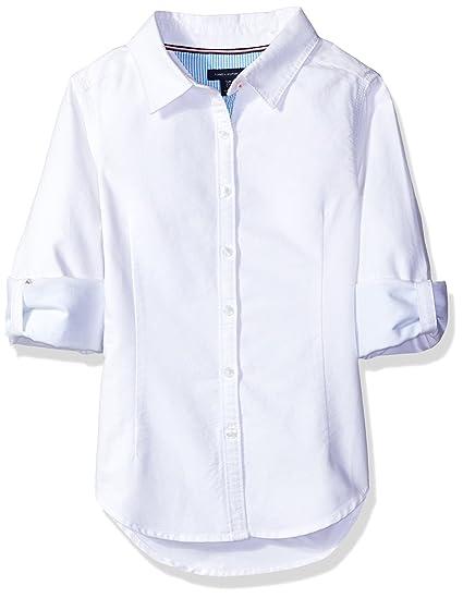 e4c61aeeb47862 Tommy Hilfiger Girls  Button Down Shirt  Amazon.co.uk  Clothing