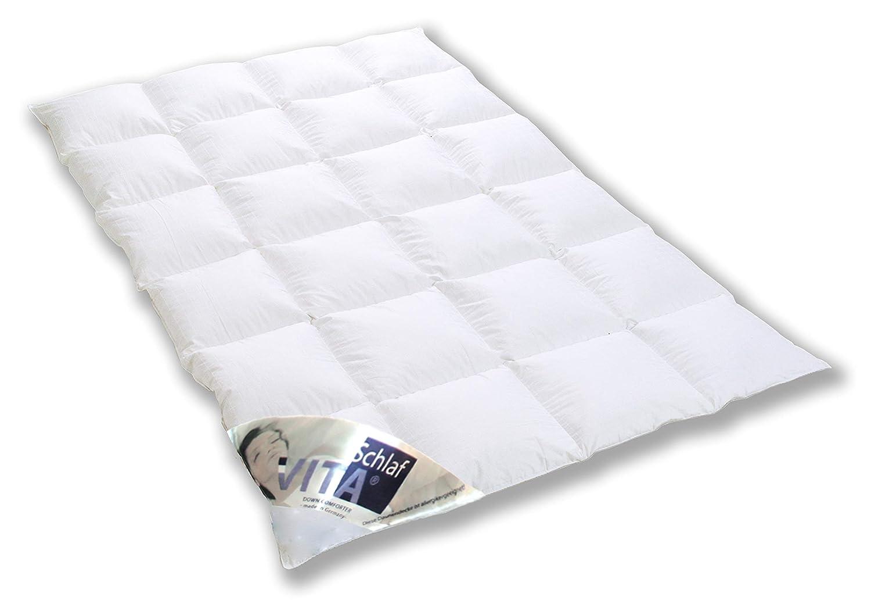 Vita® Schlaf Daunendecke HOLSTEINISCHE WEIDEGANS 100% Daunen Atelier Luxus WARM 135x200cm Bauernflaum100% 750g