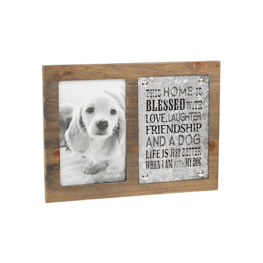 Joe Davies hausgemachten Zink Hunde mit Plaque-Holz-Bilderrahmen, 4 ...