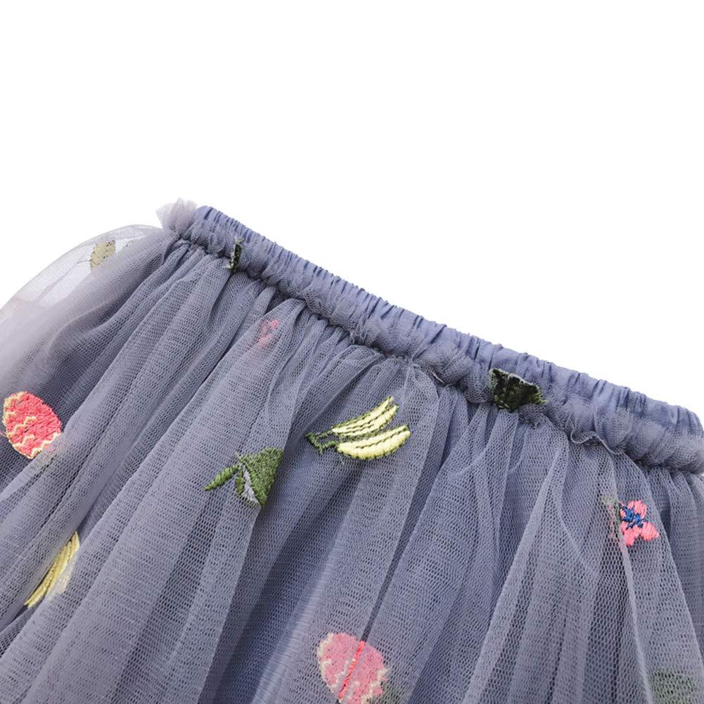 Baby Girls Lace Princess Layered Skirt Toddler Printed Tutu Tulle Dress-Up
