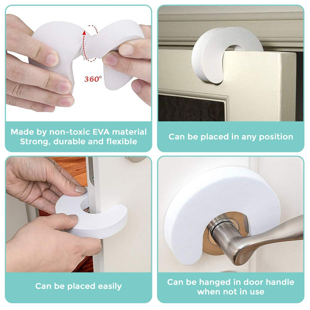 Foam Door Stopper Guards for Baby Finger Protection 6 Pack