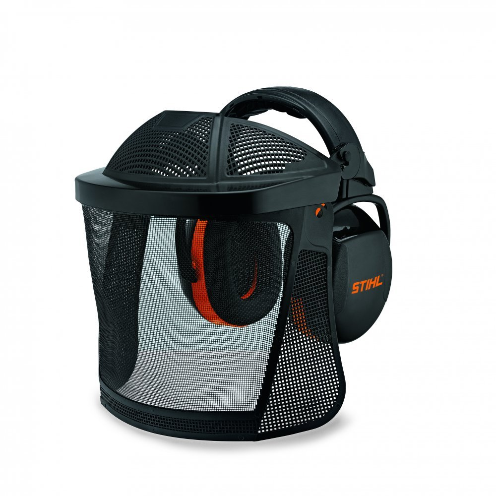 Stihl Genuine 0000/ 884/ 0566/ Nylon Mesh Face Shield and Hearing Protector Short with Forehead Protection