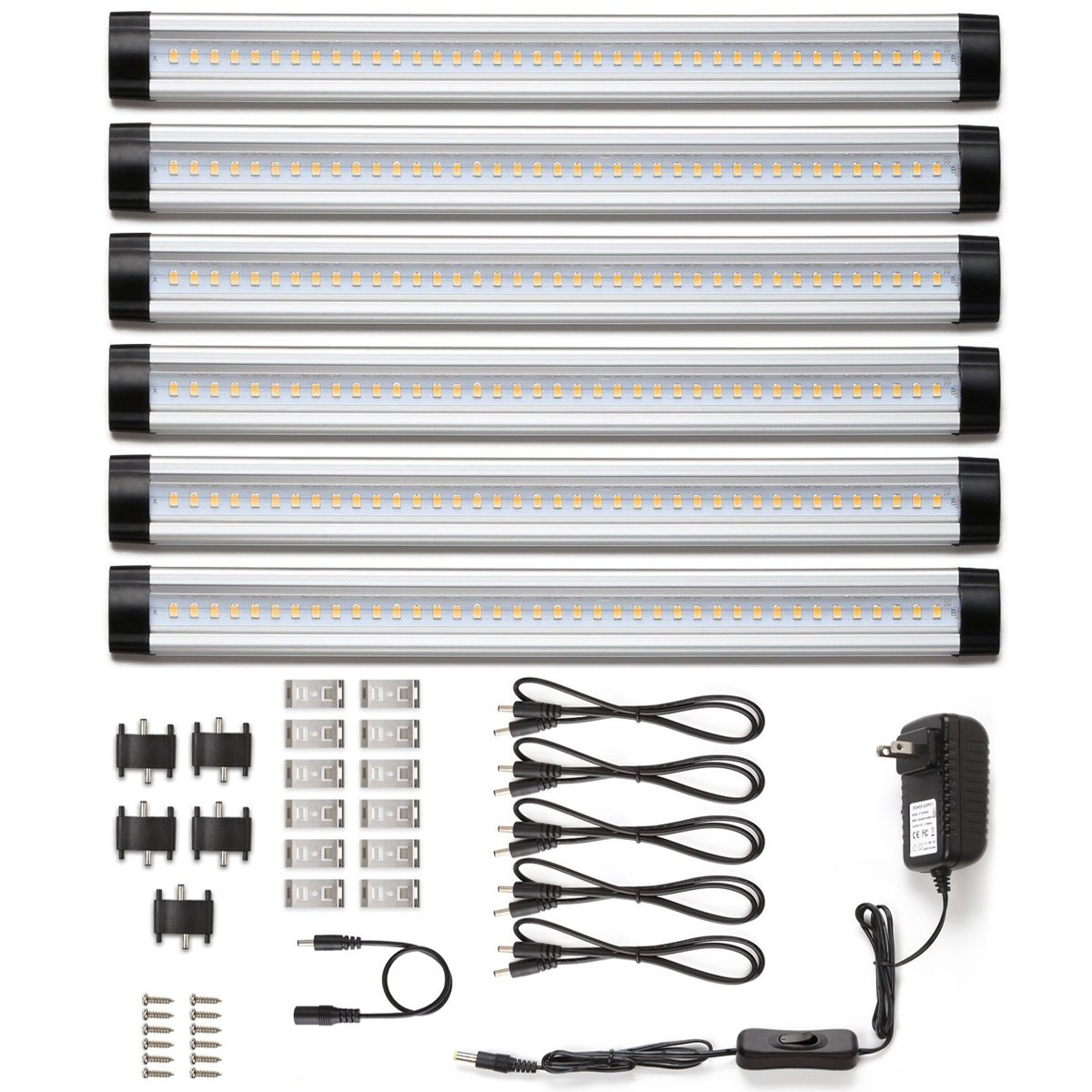 LE Under Cabinet LED Lighting, 6 Panel Kit, 24W Total, 12 V DC ...