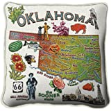 Oklahoma State Pillow - 24 x 24 Pillow