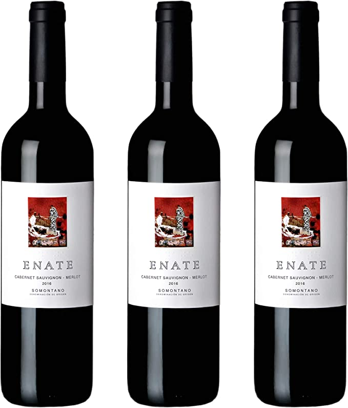 Estuche ENATE Cabernet Merlot 2016 de 3 Botellas de 75 cl, Vino Tinto, DO Somontano, Crianza 6 Meses: Amazon.es: Alimentación y bebidas