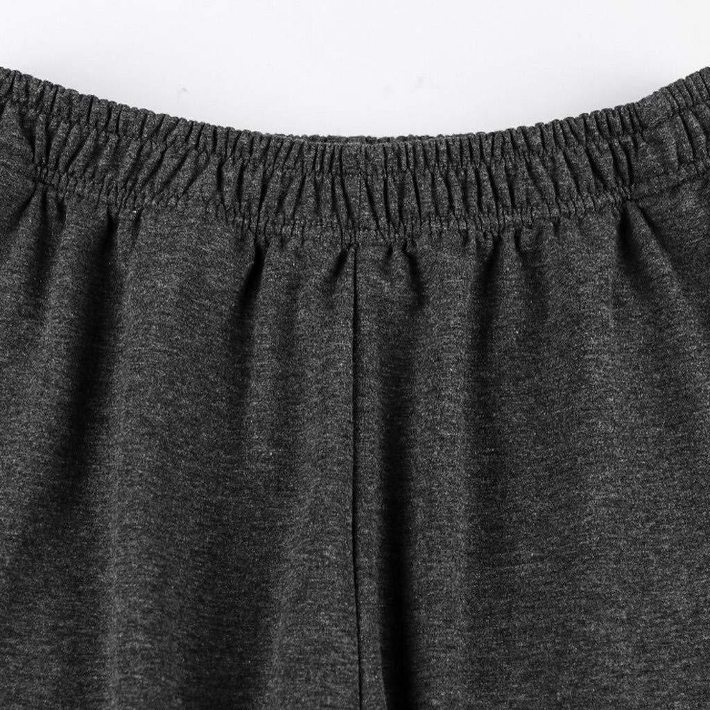 YanHoo Pantalones de Hombre Pantalones de chándal de Color sólido ...